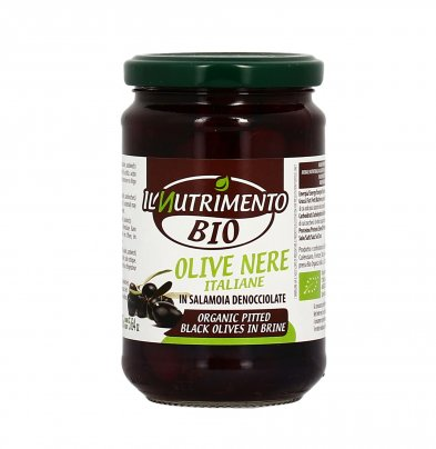 Olive Nere Denocciolate in Salamoia