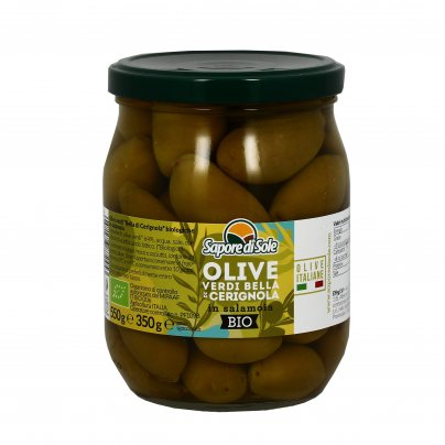 Olive Verdi Bella di Cerignola al Natura