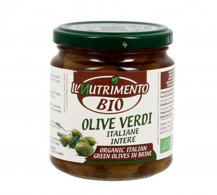 Olive Verdi Intere in Salamoia Biologiche