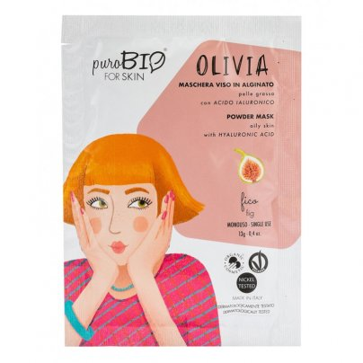 Maschera Viso Alginato per Pelle Grassa - Olivia Fico