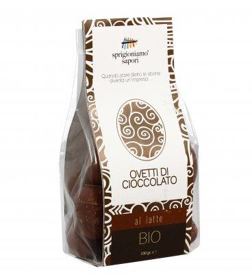 Ovetti di Cioccolato al Latte Biologici