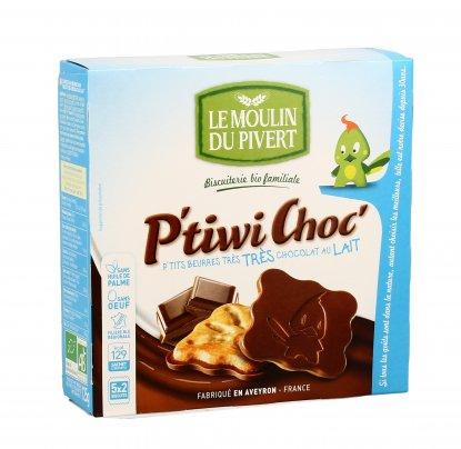 Biscotti al Burro con Cioccolato al Latte - P'tiwi Choc'