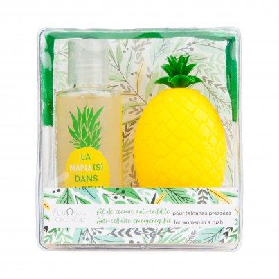Kit Trousse Ananas Anticellulite: Coppetta Massaggio + Olio Doccia Cellulite