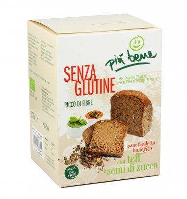Pan Bauletto con Teff e Semi di Zucca - Senza Glutine