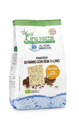 Pancrek di Farro con Semi di Lino