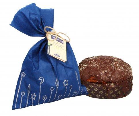 Panettone con Copertura Cioccolato Fondente e Cocco in Scaglie