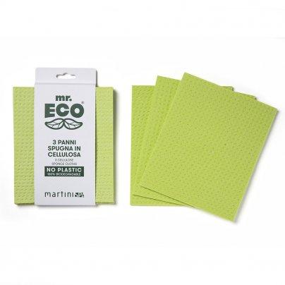 3 Panni Spugna in Cellulosa No Plastica - Mr. Eco