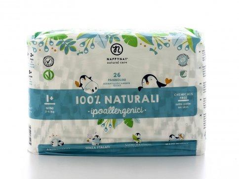 Pannolini 100% Naturali Ipoallergenici Taglia Mini 2/6 Kg.