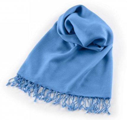 Pashmina Large - Scialle da Meditazione Blu Chiaro