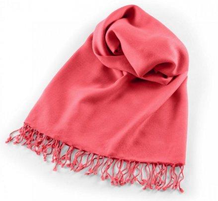 Pashmina Large - Scialle da Meditazione Rosa Corallo