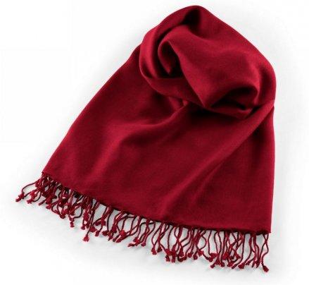 Pashmina - Scialle da Meditazione Rosso Intenso