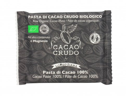 Cacao Crudo Biologico 100% in Pasta