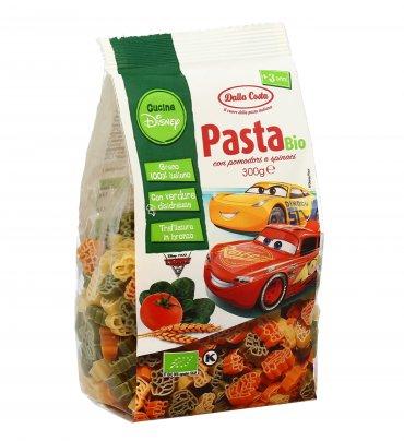 Pasta di Grano Duro Bio con Pomodoro e Spinaci - Cars Disney
