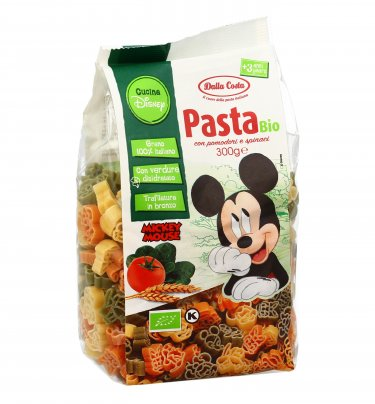 Pasta Grano Duro Bio con Pomodoro e Spinaci - Topolino Disney