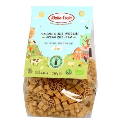 """Pasta di Riso Integrale Bio Senza Glutine """"Animali Della Fattoria"""""""