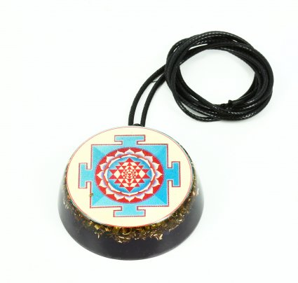 Pendente Vitec In Orgonite Purpurea Blu Yantra