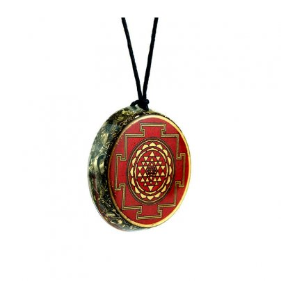 Pendente Vitec In Orgonite Purpurea Red Yantra