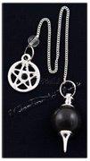 Pendolo Sfera Onice con Catenella Pentagramma