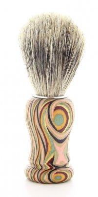 Pennello da Barba Curvo in Legno Con Setole in Pelo di Tasso