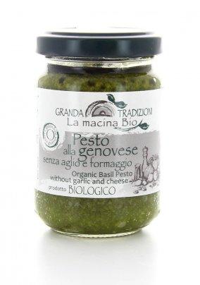 Pesto alla Genovese Bio senza Aglio e Formaggio 130 gr.