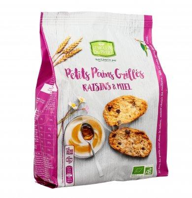 Crostini Dolci con Uvetta e Miele - Petits Pains Grillés