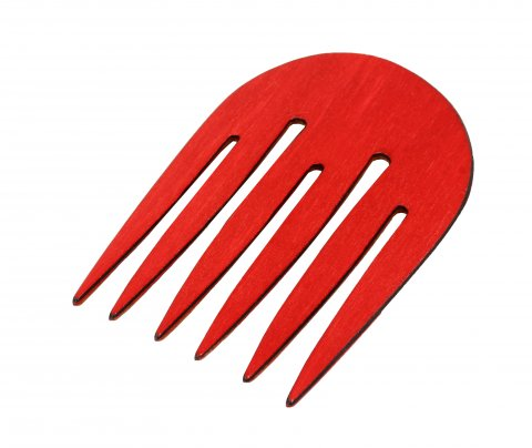Pettine Afro per Capelli Rosso (Tondo)