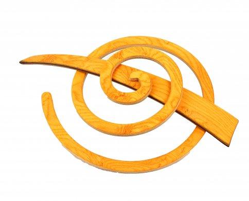 Fermaglio a Spirale per Capelli Giallo