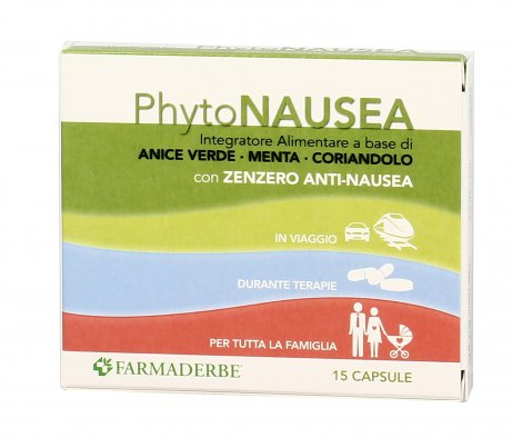 Phyto Nausea - Integratore con Zenzero, Anice Verde e Menta
