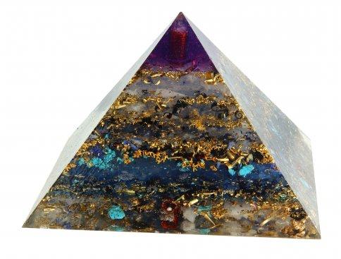 Piramide in Orgonite e Shungite  - Blue Sky Nature 20 cm