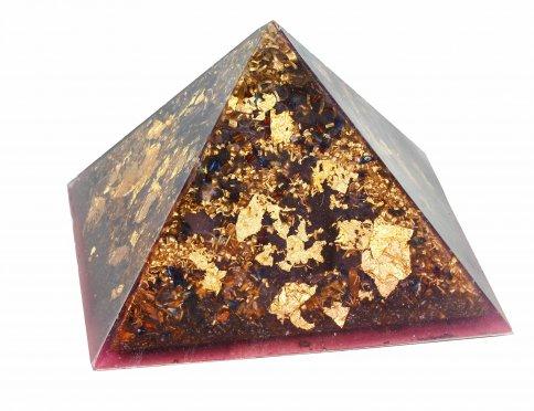 Piramide Orgonite e Shungite  - Casa di Ra Viola 15 cm