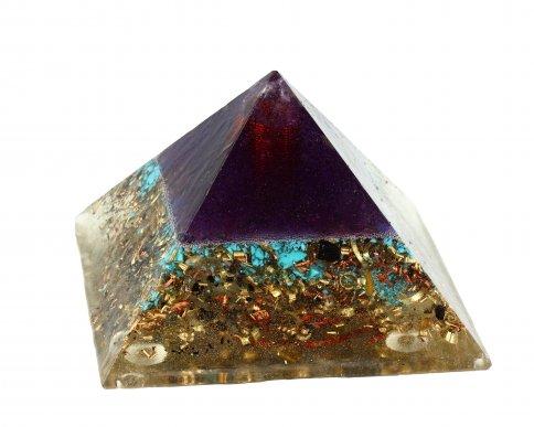Piramide in Orgonite e Shungite  - Blue Sky Nature 9 cm