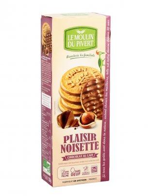 Biscotti alle Nocciole Ricoperti di Cioccolato al Latte - Plaisir Noisette