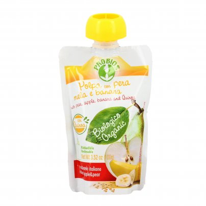 Polpa Frutta di Pera, Mela e Banana Bio - Senza Zuccheri Aggiunti
