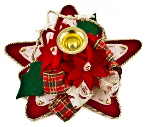 Portacandele Stella di Natale