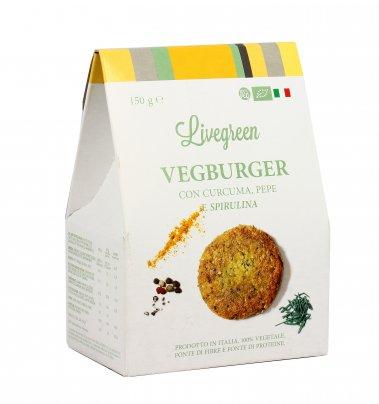 Preparato per Vegburger con Curcuma, Pepe e Spirulina