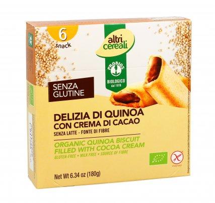 Snack Delizia di Quinoa con Crema al Cacao - Senza Glutine