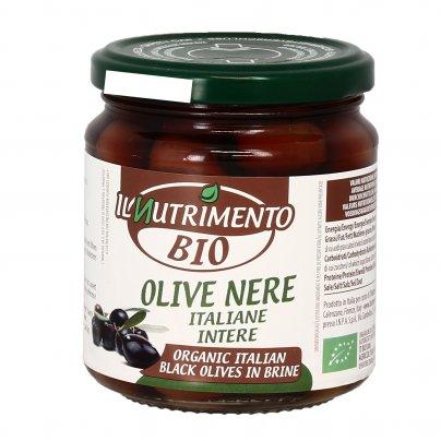 Olive Nere Intere Italiane in Salamoia