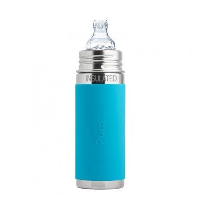 Biberon Completo con Tettarella 6+ Mesi (325 ml) Azzurro