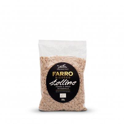 Stelline Pasta di Orzo e Farro Integrale Farro Dicocco Bio