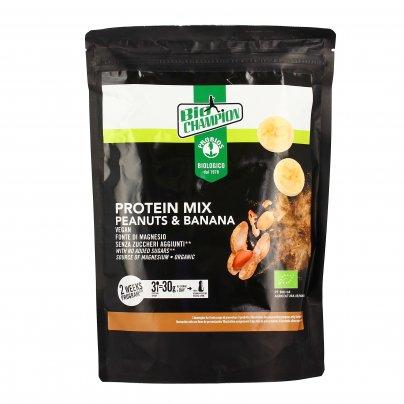 """Mix Bio di Proteine Vegetali """"Protein Mix"""" con Arachidi e Banana - Senza Glutine"""