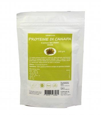 Proteine di Canapa Cruda in Polvere