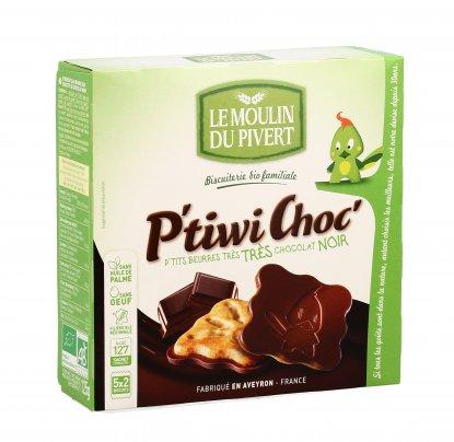 Biscotti al Burro con Cioccolato Fondente - P'tiwi Choc'