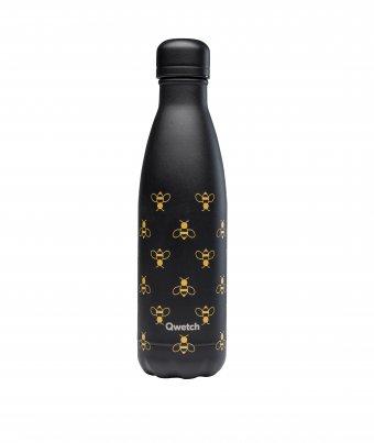 Bottiglia Termica Nera con Api - Bee Bottle