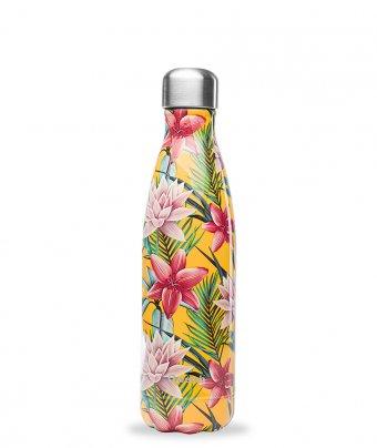 Bottiglia Termica - Fiori Tropicali (Gialla)
