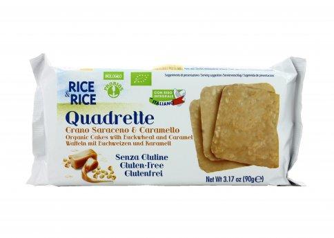 Quadrette Grano Saraceno e Caramello Senza Glutine