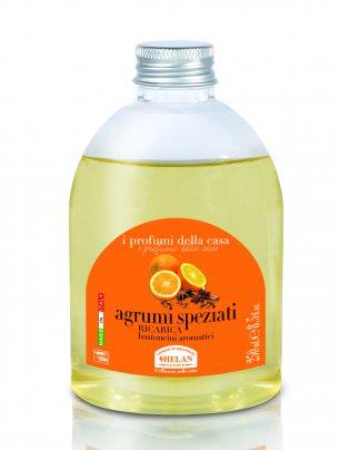 Essenza Agrumi Speziati per l'Ambiente Ricarica bastoncini 250 ml.
