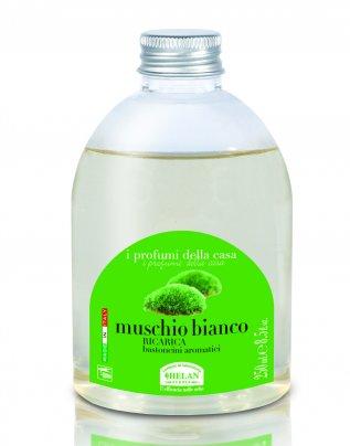 Essenza Muschio Bianco per l'Ambiente Ricarica bastoncini 250 ml.