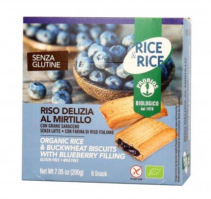 Riso Delizia al Mirtillo con Grano Saraceno - Snack Dolce