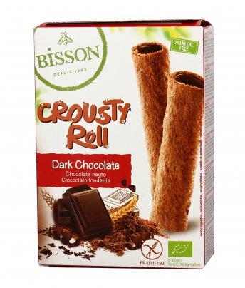 "Cialda Snack al Cioccolato Fondente ""Crousty Roll"""
