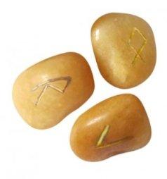 Rune in Quarzo Dorato